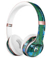 Abstract Green Plaid Paint Wall Full-Body Skin Kit for the Beats by Dre Solo 3 Wireless Headphones