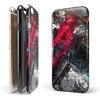 Abstract Grungy Oil Mess iPhone 6/6s or 6/6s Plus 2-Piece Hybrid INK-Fuzed Case