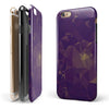 Abstract Purple and Gold Geometric Shapes iPhone 6/6s or 6/6s Plus 2-Piece Hybrid INK-Fuzed Case