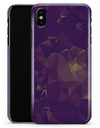 Abstract Purple and Gold Geometric Shapes - iPhone X Clipit Case