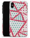 Abstract Red and Teal Overlaps - iPhone X Clipit Case