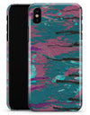 Abstract Retro Pink Wet Paint - iPhone X Clipit Case