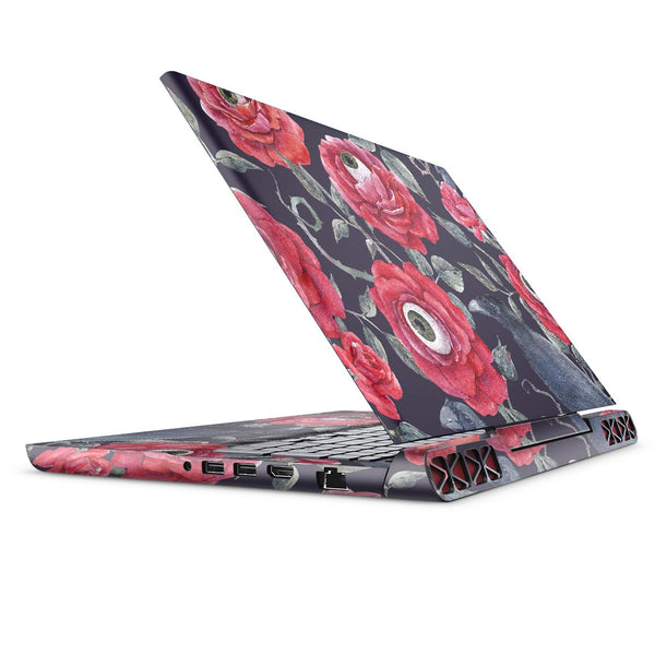 Abstract Roses with Eyes - Full Body Skin Decal Wrap Kit for the Dell Inspiron 15 7000 Gaming Laptop (2017 Model)