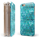 Aqua Sorted Large Watercolor Polka Dots iPhone 6/6s or 6/6s Plus 2-Piece Hybrid INK-Fuzed Case