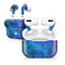 Azure Nebula - Full Body Skin Decal Wrap Kit for the Wireless Bluetooth Apple Airpods Pro, AirPods Gen 1 or Gen 2 with Wireless Charging