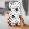 Black Floral Pedals with Clear Cacking iPhone 6/6s or 6/6s Plus 2-Piece Hybrid INK-Fuzed Case