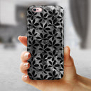 Black Watercolor Holly iPhone 6/6s or 6/6s Plus 2-Piece Hybrid INK-Fuzed Case