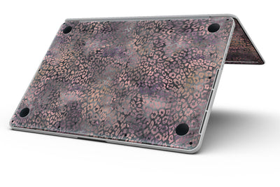 Black and Purple Watercolor Leopard Pattern - MacBook Pro with Retina Display Full-Coverage Skin Kit