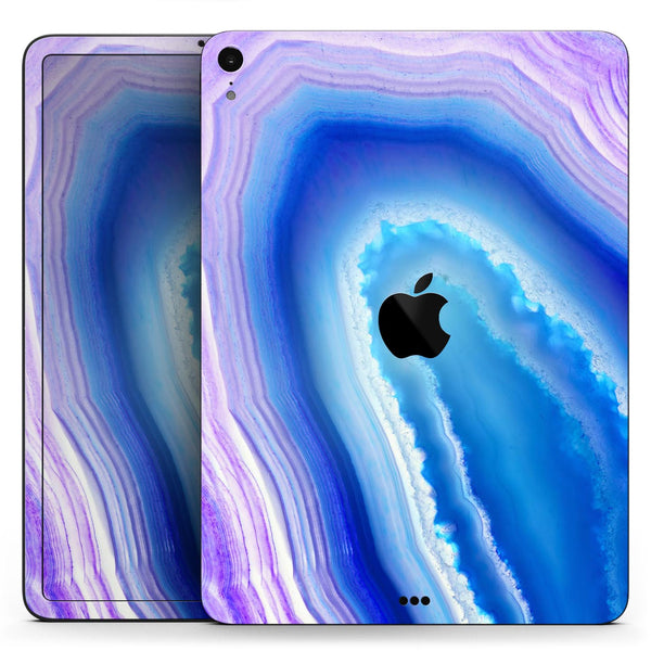 "Blue & Purple Hue Agate - Full Body Skin Decal for the Apple iPad Pro 12.9"", 11"", 10.5"", 9.7"", Air or Mini (All Models Available)"