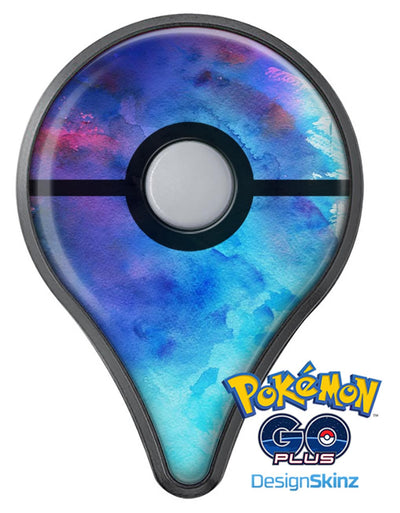 Blue 34222 Absorbed Watercolor Texture Pokémon GO Plus Vinyl Protective Decal Skin Kit