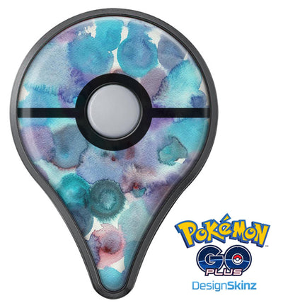 Blue 62 Absorbed Watercolor Texture Pokémon GO Plus Vinyl Protective Decal Skin Kit