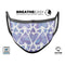Blue Abstract Inverted Hearts  - Made in USA Mouth Cover Unisex Anti-Dust Cotton Blend Reusable & Washable Face Mask with Adjustable Sizing for Adult or Child