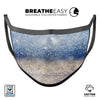 Blue Unfocused Silver Sparkle - Made in USA Mouth Cover Unisex Anti-Dust Cotton Blend Reusable & Washable Face Mask with Adjustable Sizing for Adult or Child