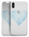 Blue Watercolor Heart - iPhone X Skin-Kit