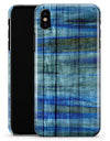 Blue and Green Tye-Dyed Wood - iPhone X Clipit Case