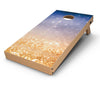 Blue_and_Orange_Scratched_Surface_with_Glowing_Gold_-_Cornhole_Board_Mockup_V2.jpg
