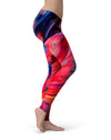 Blurred Abstract Flow V14 - All Over Print Womens Leggings / Yoga or Workout Pants