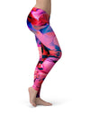 Blurred Abstract Flow V16 - All Over Print Womens Leggings / Yoga or Workout Pants