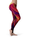 Blurred Abstract Flow V17 - All Over Print Womens Leggings / Yoga or Workout Pants