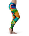 Blurred Abstract Flow V25 - All Over Print Womens Leggings / Yoga or Workout Pants