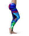 Blurred Abstract Flow V27 - All Over Print Womens Leggings / Yoga or Workout Pants
