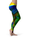 Blurred Abstract Flow V29 - All Over Print Womens Leggings / Yoga or Workout Pants