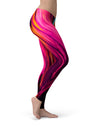 Blurred Abstract Flow V30 - All Over Print Womens Leggings / Yoga or Workout Pants
