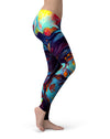 Blurred Abstract Flow V31 - All Over Print Womens Leggings / Yoga or Workout Pants