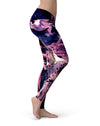 Blurred Abstract Flow V32 - All Over Print Womens Leggings / Yoga or Workout Pants