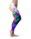 Blurred Abstract Flow V33 - All Over Print Womens Leggings / Yoga or Workout Pants