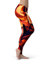 Blurred Abstract Flow V34 - All Over Print Womens Leggings / Yoga or Workout Pants
