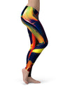 Blurred Abstract Flow V38 - All Over Print Womens Leggings / Yoga or Workout Pants