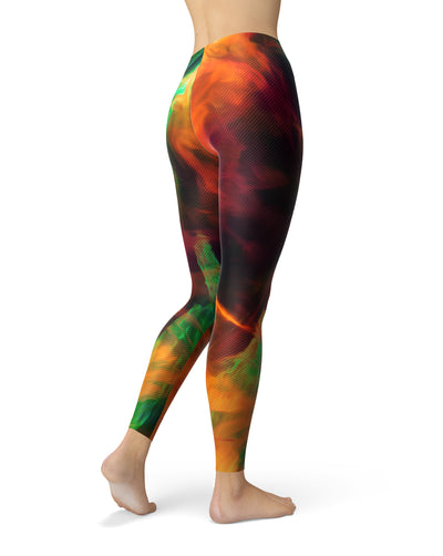 Blurred Abstract Flow V41 - All Over Print Womens Leggings / Yoga or Workout Pants