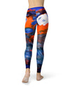 Blurred Abstract Flow V43 - All Over Print Womens Leggings / Yoga or Workout Pants