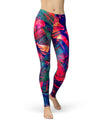 Blurred Abstract Flow V44 - All Over Print Womens Leggings / Yoga or Workout Pants
