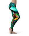 Blurred Abstract Flow V47 - All Over Print Womens Leggings / Yoga or Workout Pants