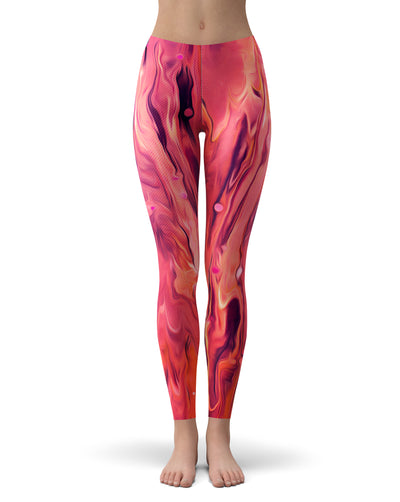 Blurred Abstract Flow V48 - All Over Print Womens Leggings / Yoga or Workout Pants