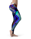 Blurred Abstract Flow V49 - All Over Print Womens Leggings / Yoga or Workout Pants