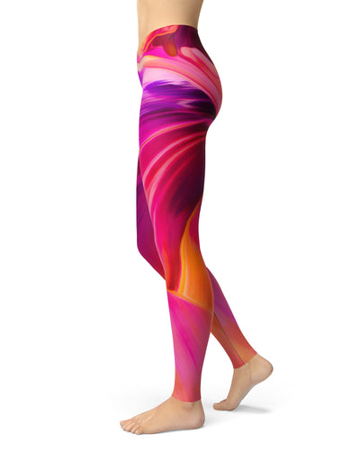 Blurred Abstract Flow V50 - All Over Print Womens Leggings / Yoga or Workout Pants
