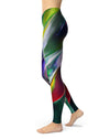 Blurred Abstract Flow V57 - All Over Print Womens Leggings / Yoga or Workout Pants