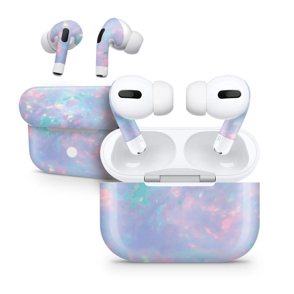 Blurry Opal Gemstone - Full Body Skin Decal Wrap Kit for the Wireless Bluetooth Apple Airpods Pro, AirPods Gen 1 or Gen 2 with Wireless Charging