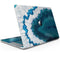"Bright Blue Agate Slice - Skin Decal Wrap Kit Compatible with the Apple MacBook Pro, Pro with Touch Bar or Air (11"", 12"", 13"", 15"" & 16"" - All Versions Available)"