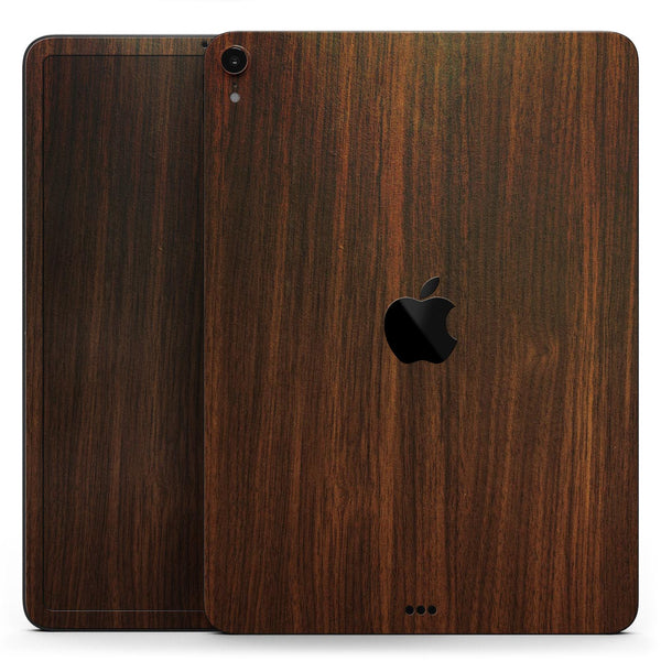 "Dark Walnut Stained Wood - Full Body Skin Decal for the Apple iPad Pro 12.9"", 11"", 10.5"", 9.7"", Air or Mini (All Models Available)"