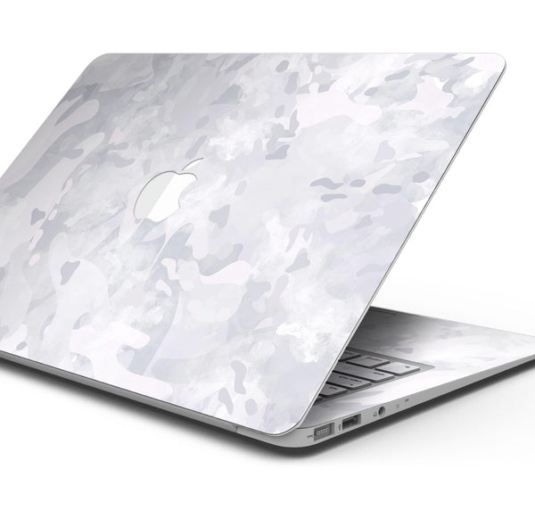 "Desert Winter Camouflage V3 - Skin Decal Wrap Kit Compatible with the Apple MacBook Pro, Pro with Touch Bar or Air (11"", 12"", 13"", 15"" & 16"" - All Versions Available)"