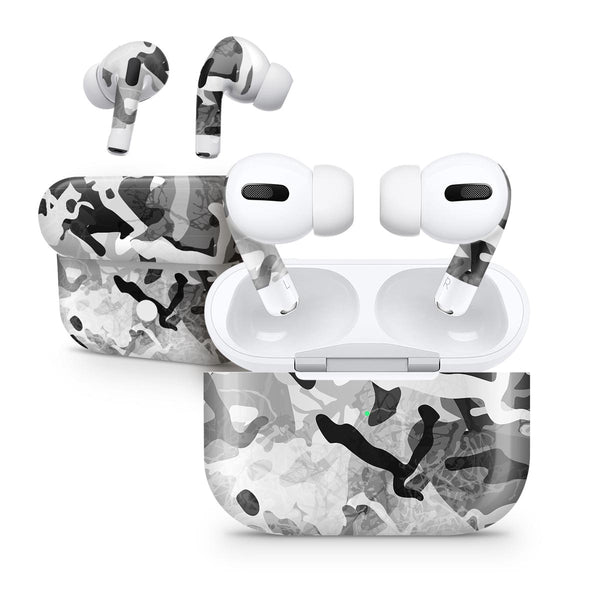 Desert Snow Camouflage V2 - Full Body Skin Decal Wrap Kit for the Wireless Bluetooth Apple Airpods Pro, AirPods Gen 1 or Gen 2 with Wireless Charging
