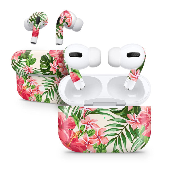 Dreamy Subtle Floral V1 - Full Body Skin Decal Wrap Kit for the Wireless Bluetooth Apple Airpods Pro, AirPods Gen 1 or Gen 2 with Wireless Charging