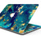 "Gold Flaked Teal Oil - Skin Decal Wrap Kit Compatible with the Apple MacBook Pro, Pro with Touch Bar or Air (11"", 12"", 13"", 15"" & 16"" - All Versions Available)"