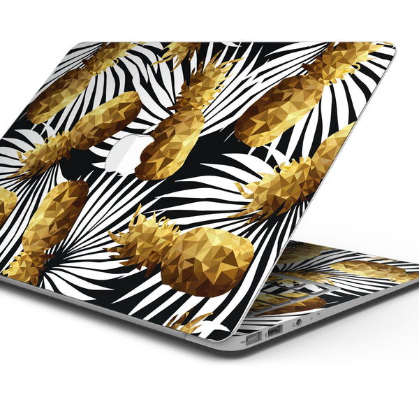 "Gold Pineapple Express - Skin Decal Wrap Kit Compatible with the Apple MacBook Pro, Pro with Touch Bar or Air (11"", 12"", 13"", 15"" & 16"" - All Versions Available)"