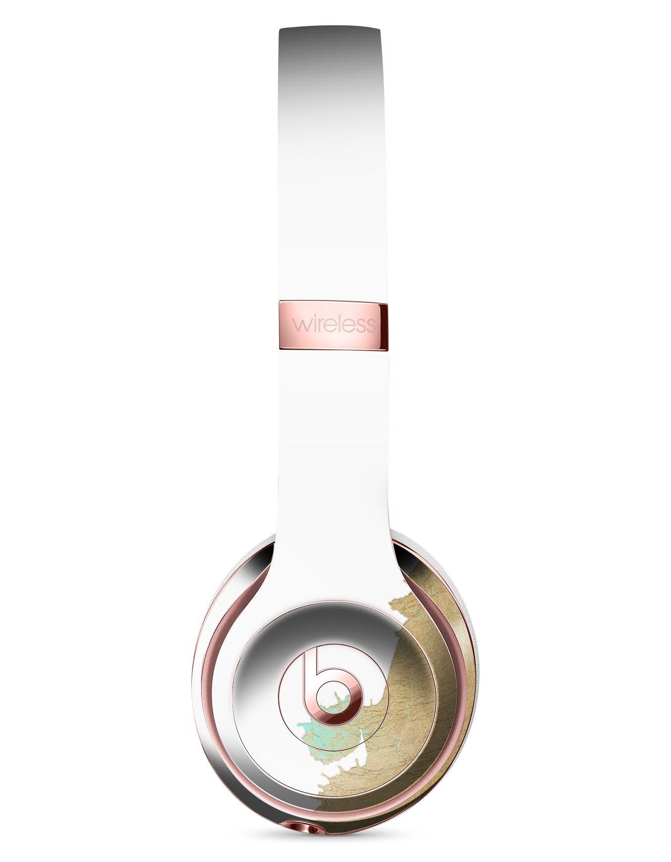 Gold Foiled White V1 Full Body Skin Kit For The Beats By Dre Solo 3 Wi Theskindudes