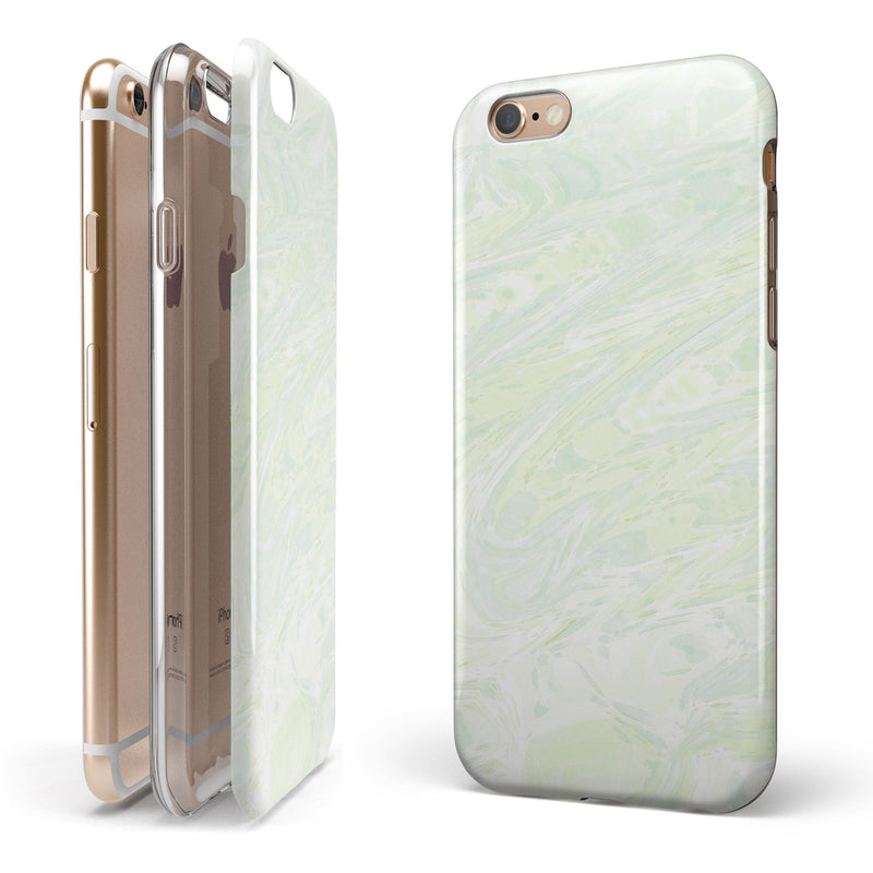 Green Slate Marble Surface V44 iPhone 6/6s or 6/6s Plus 2-Piece Hybrid INK-Fuzed Case
